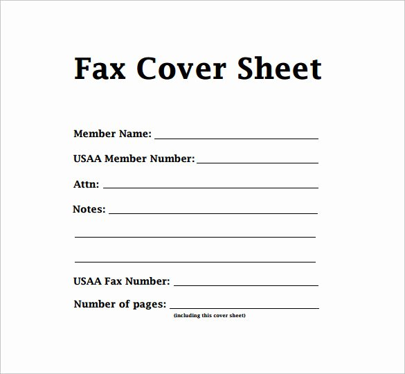 Print Fax Cover Sheet Inspirational Printable Fax Cover Sheet