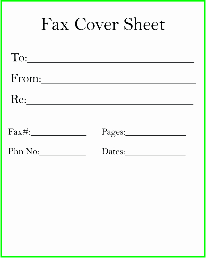 Print Fax Cover Sheet Unique How to Make Fax Cover Sheet [printable & Blank]