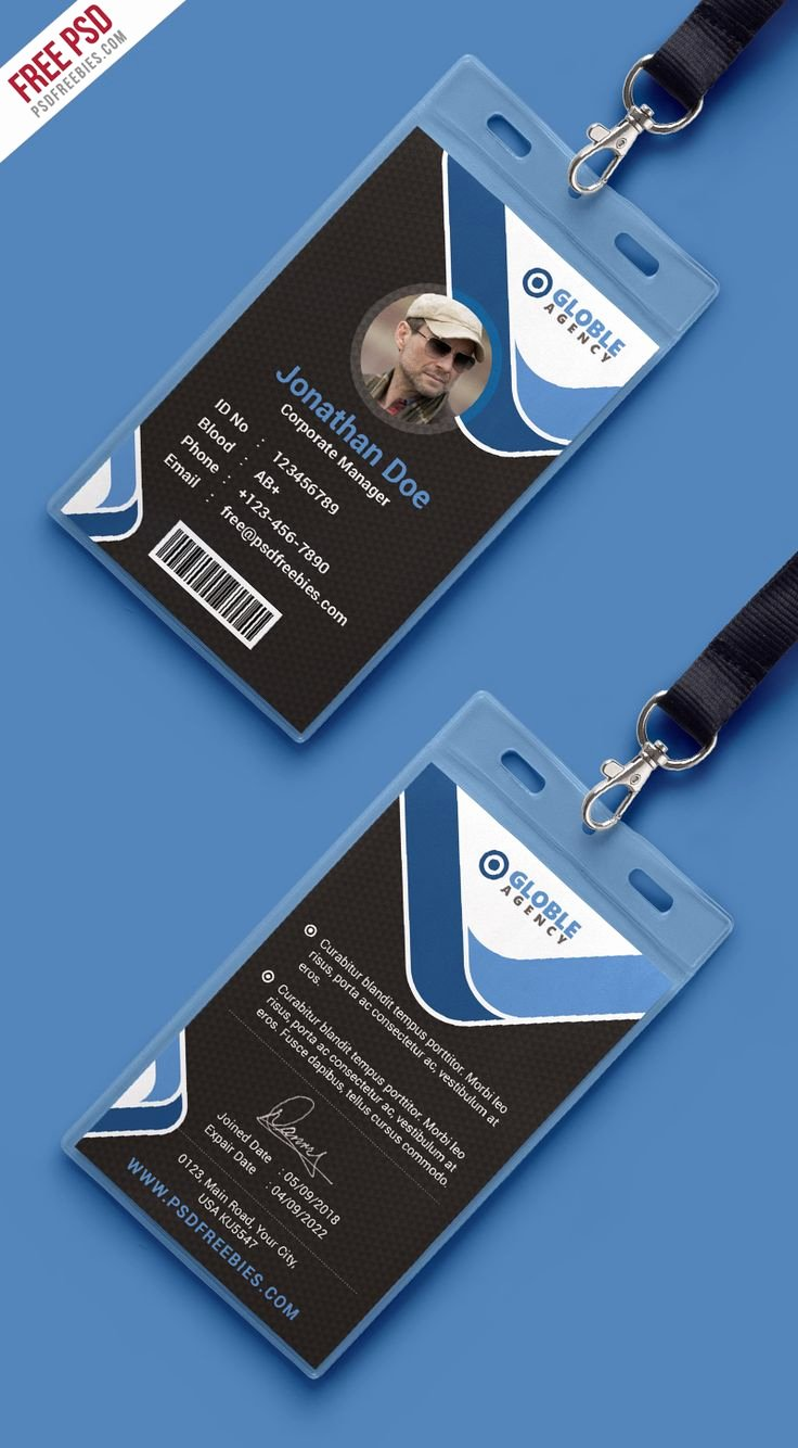 Print Id Cards Online Free Best Of Multipurpose Dark Fice Id Card Free Psd Template