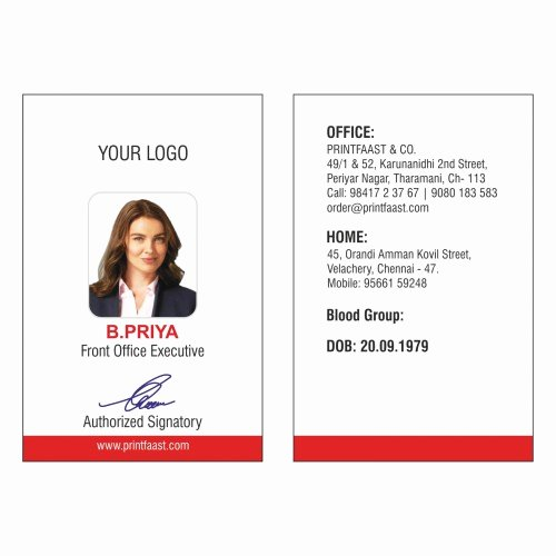 Print Id Cards Online Free Elegant Id Cards Design and Printing In Chennai Printfaast