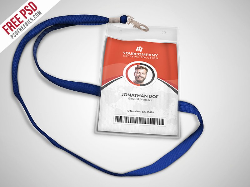 Print Id Cards Online Free Elegant Multipurpose Fice Id Card Template Psd Download Psd