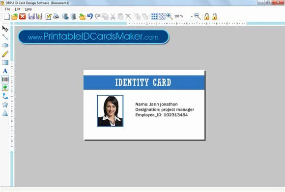 Print Id Cards Online Free Luxury Printable Id Cards Maker 7 3 0 1