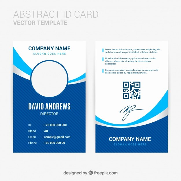 Print Id Cards Online Free New Abstract Id Card Template with Flat Design Vector