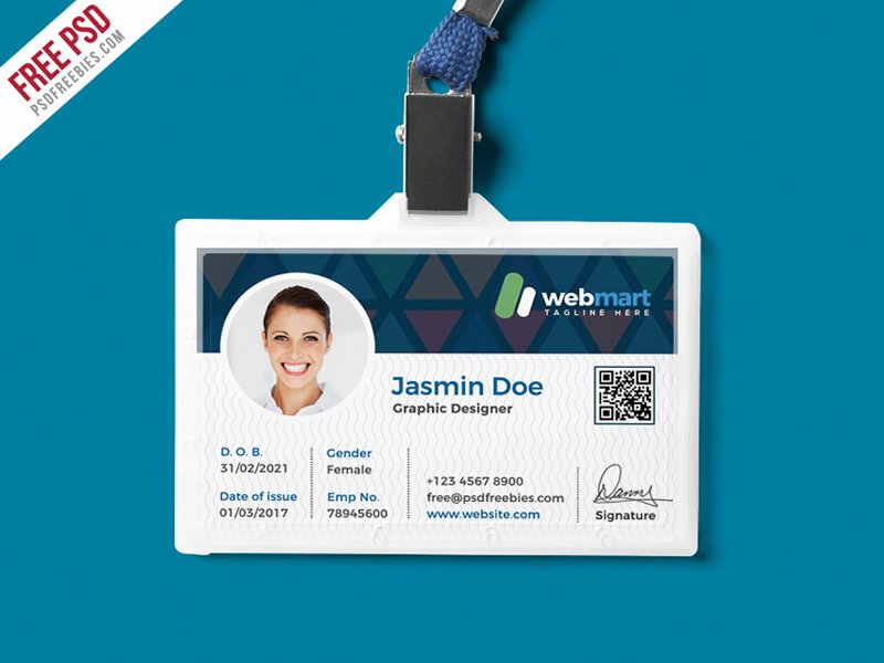 Print Id Cards Online Free New Fice Id Card Design Psd Download Psd