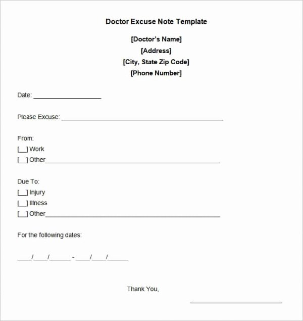 Print Out Fake Doctors Note Best Of Template Gallery Page 2