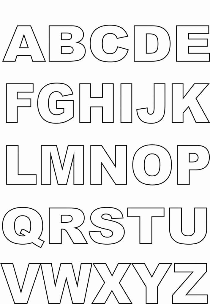 Printable Alphabet Letters Free Best Of Capital Alphabet Letters for Kids