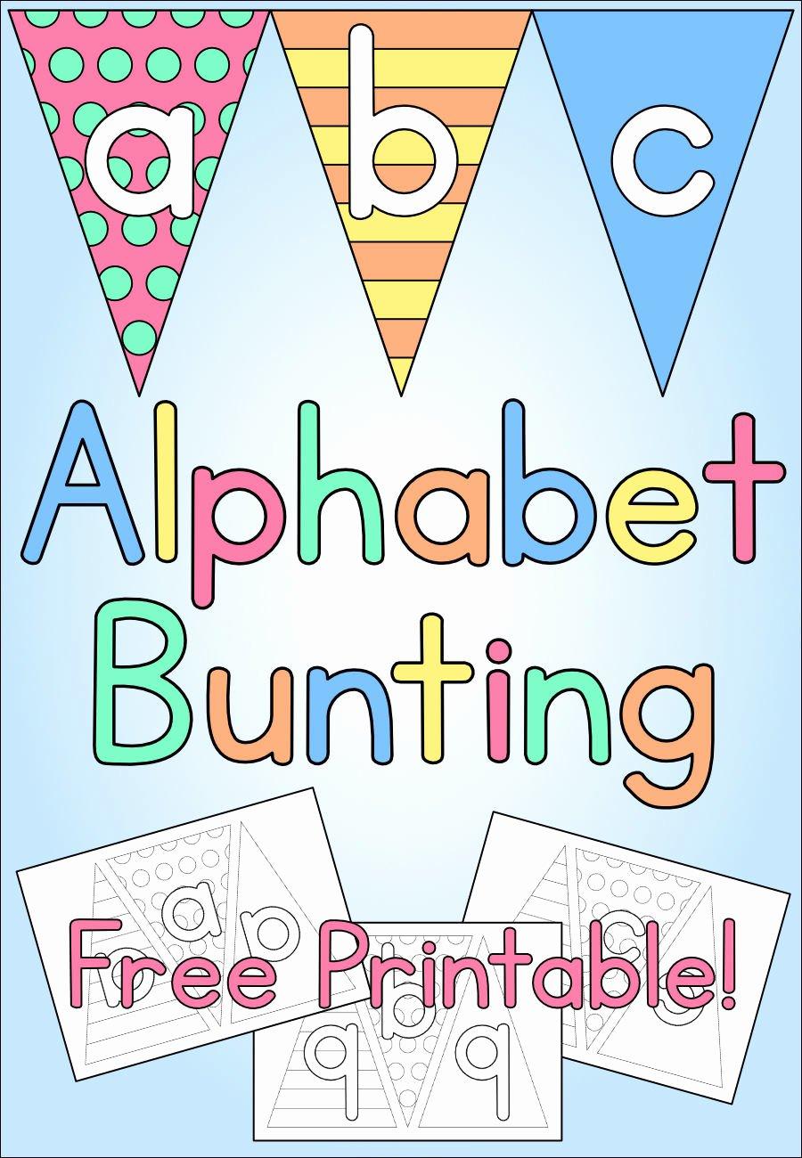 Printable Alphabet Letters Free Fresh Alphabet Bunting Kids Craft Free Printable ⋆ Mama Geek