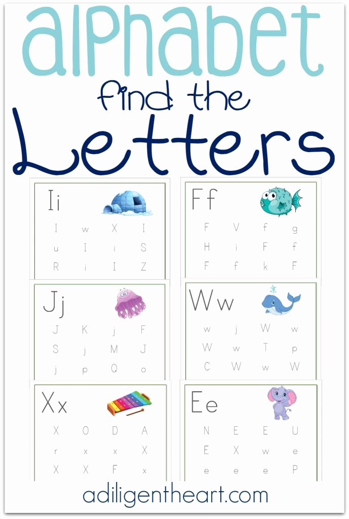 Printable Alphabet Letters Free Fresh Free Find the Letter Printable