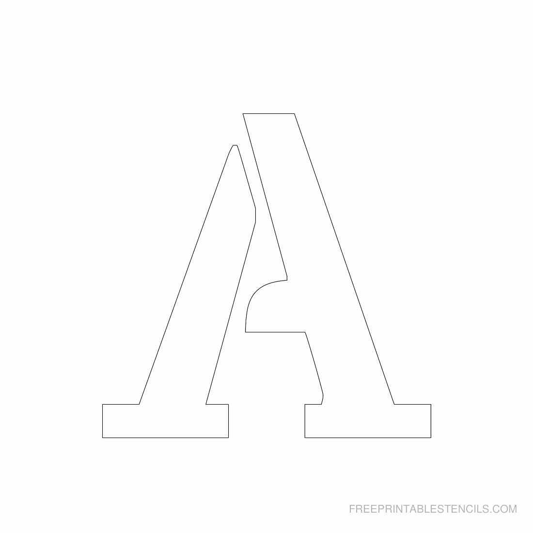 Printable Alphabet Letters Free Fresh Printable 3 Inch Letter Stencil A Has Full Alphabet