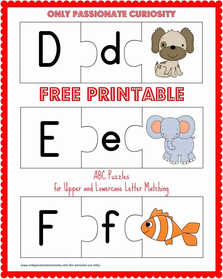 Printable Alphabet Letters Free Inspirational Free Printable Abc Puzzles Upper and Lowercase Letter