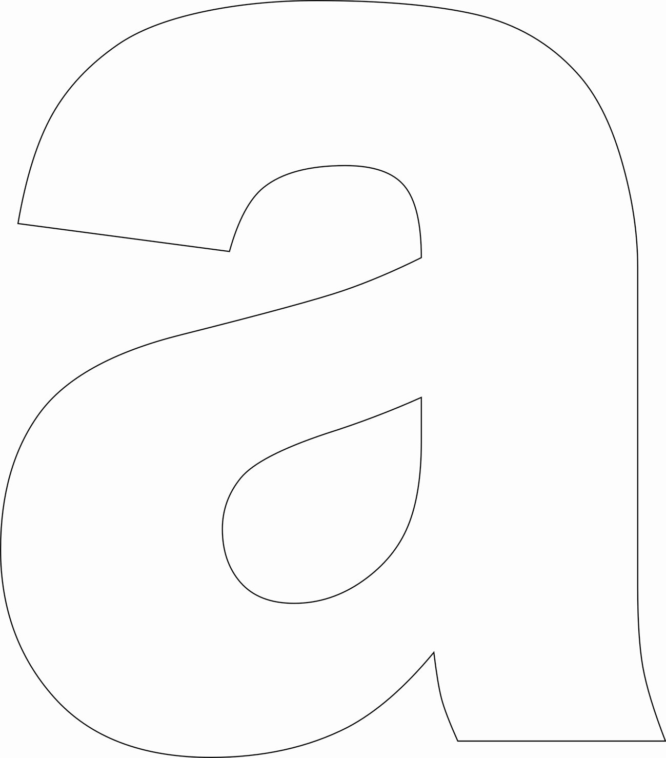 Printable Alphabet Letters Free Lovely Free Printable Lower Case Alphabet Letter Template