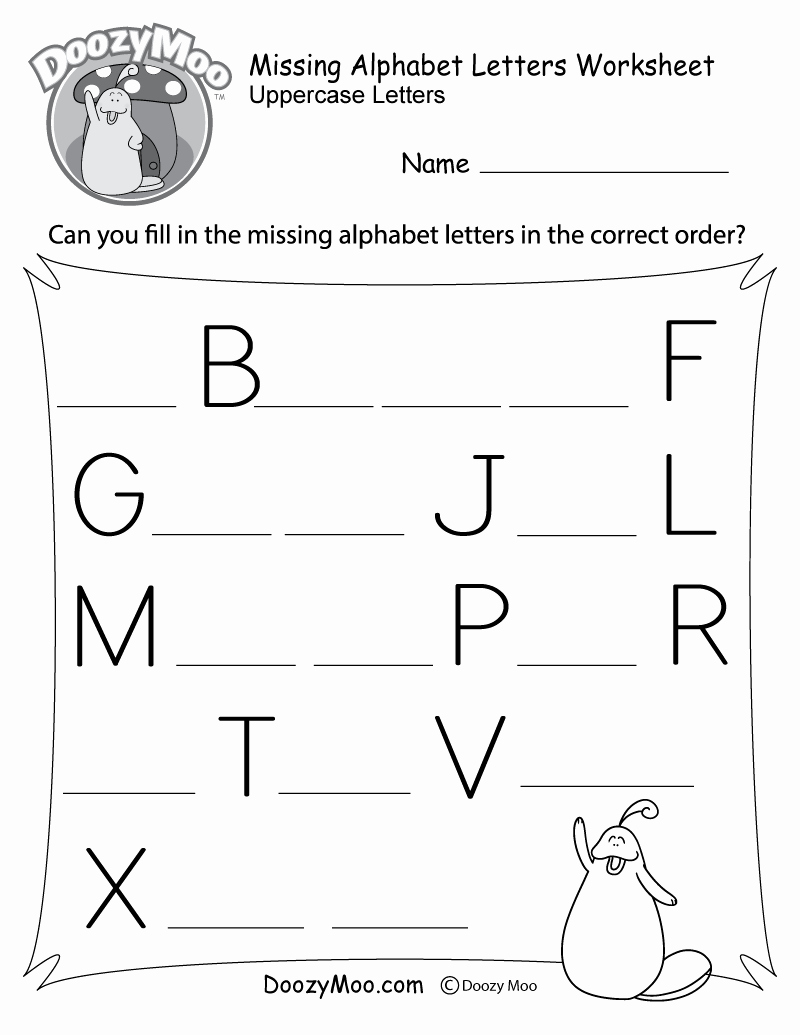 Printable Alphabet Letters Free Luxury Missing Alphabet Letters Worksheet Free Printable