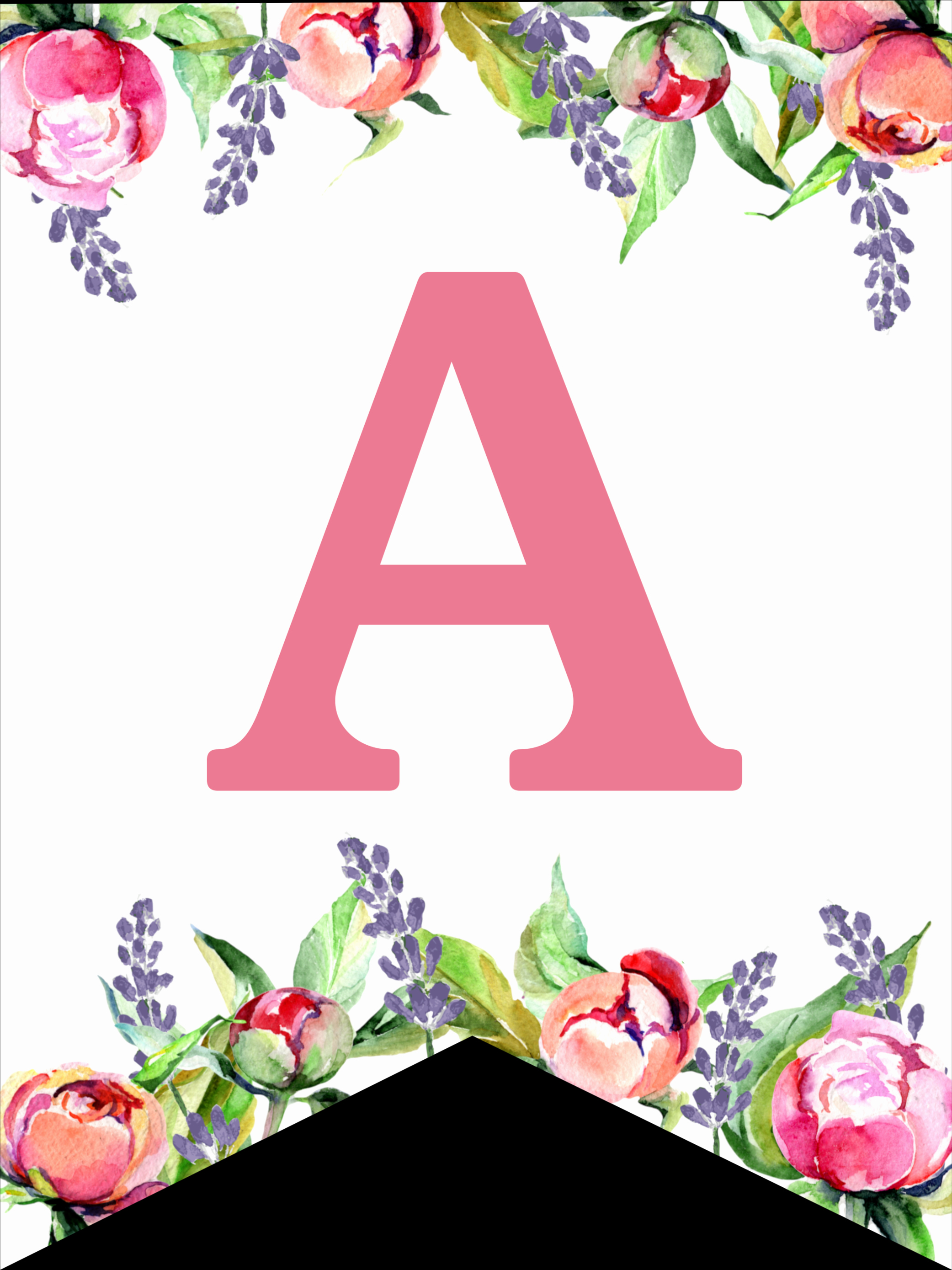 Printable Alphabet Letters Free New Floral Free Printable Alphabet Letters Banner Paper