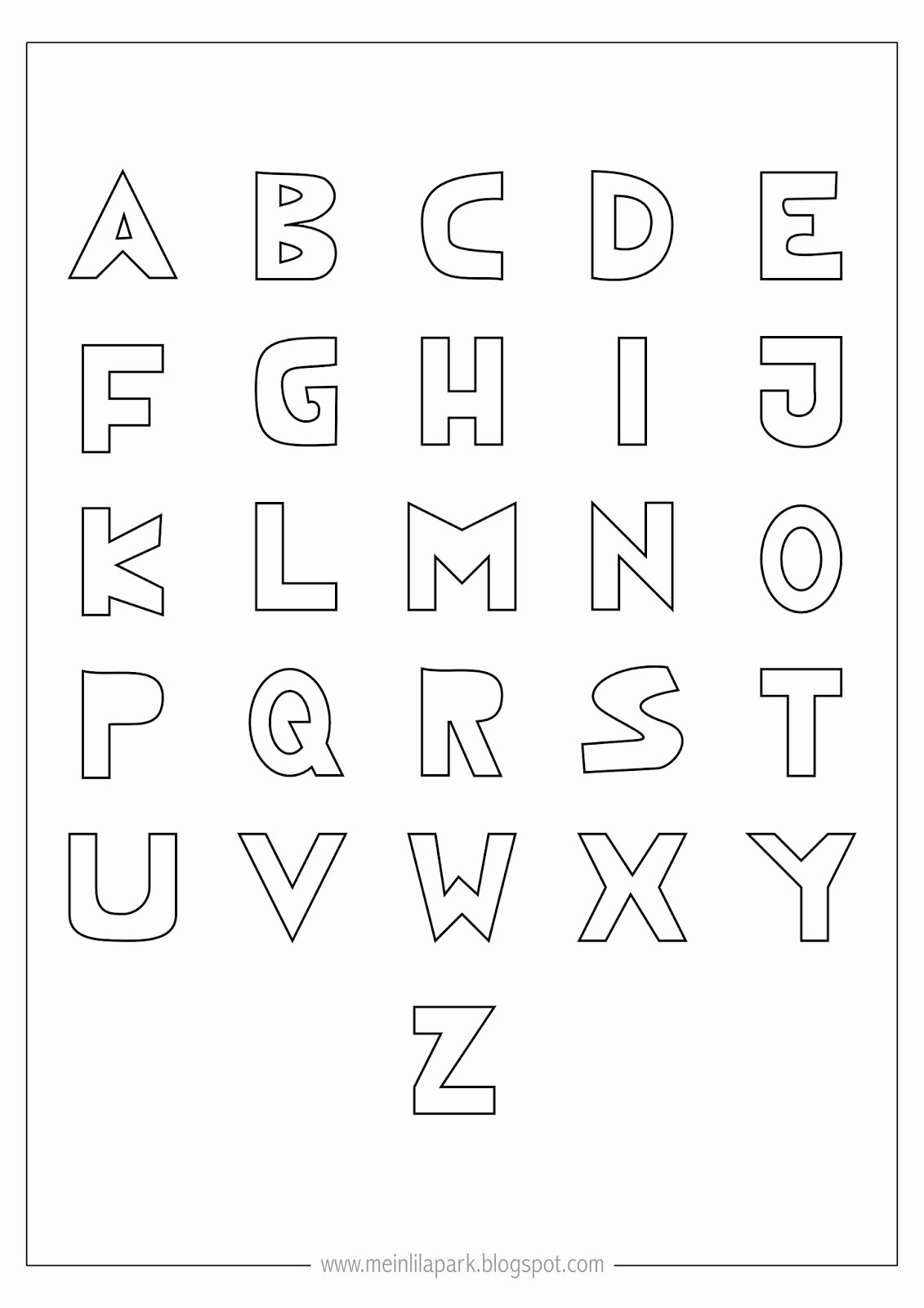 Printable Alphabet Letters Free New Free Printable Coloring Alphabet Letters Ausdruckbares