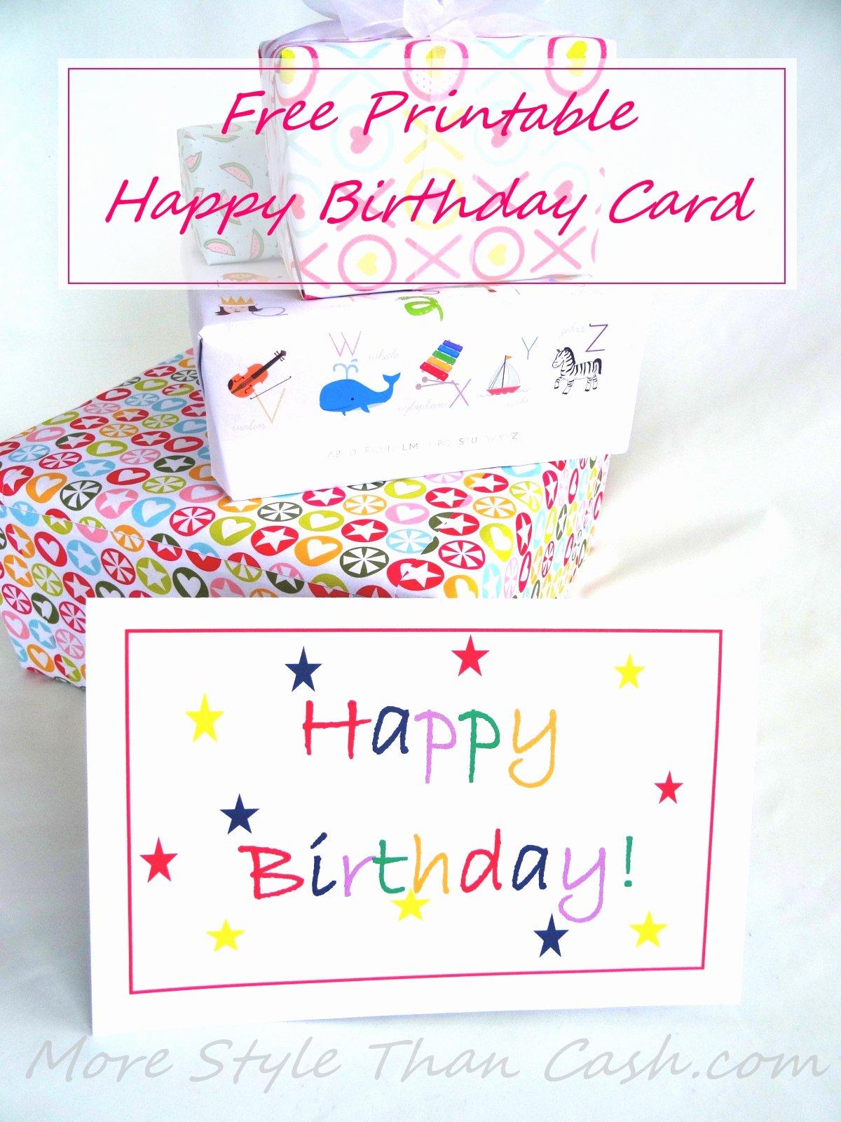 Printable Anniversary Cards Free Best Of Free Printable Birthday Card