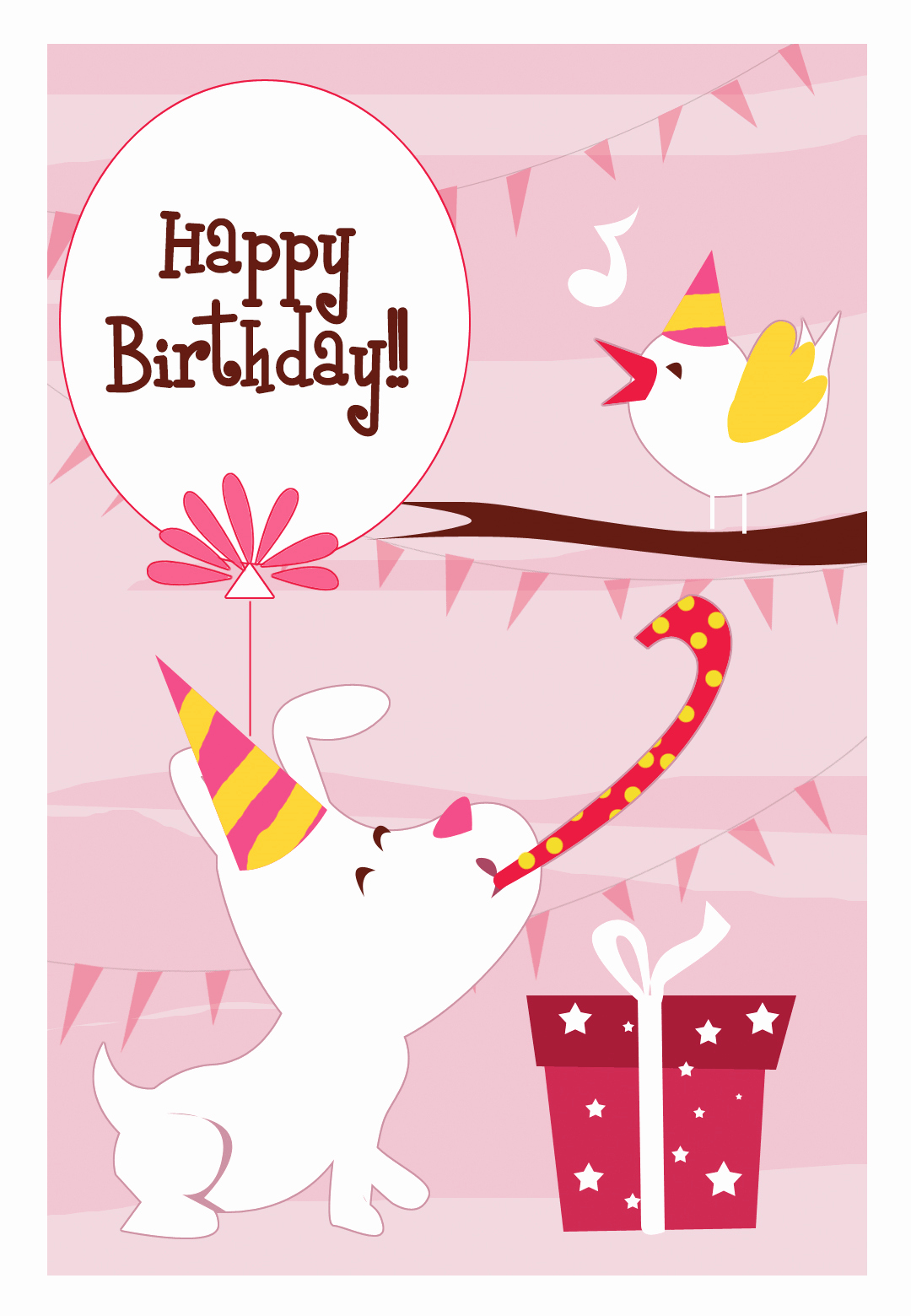 Printable Anniversary Cards Free Online Luxury Happy Dog and A Bird Birthday Card