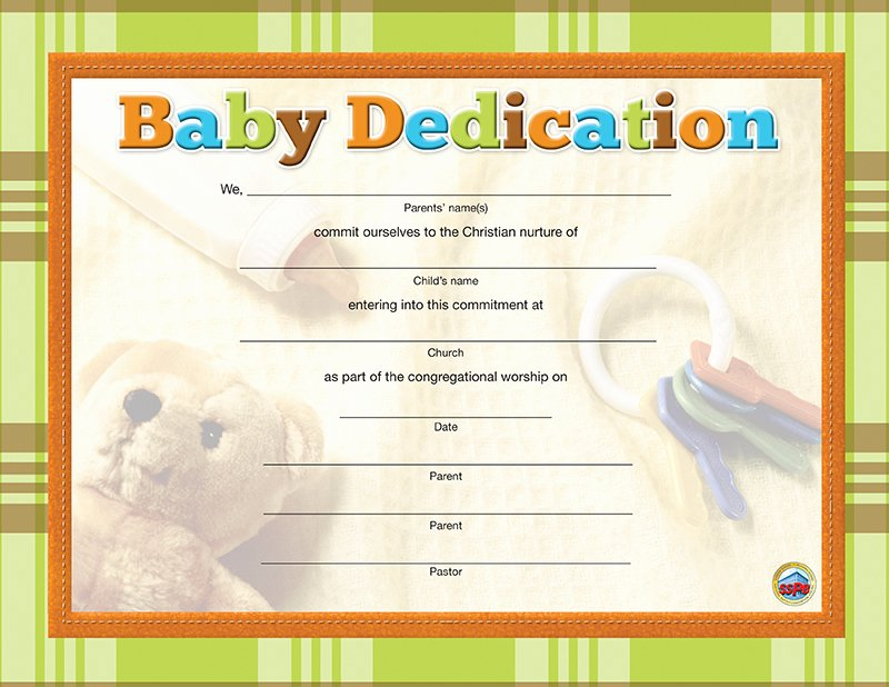 Printable Baby Dedication Certificate Beautiful Baby Dedication Certificate