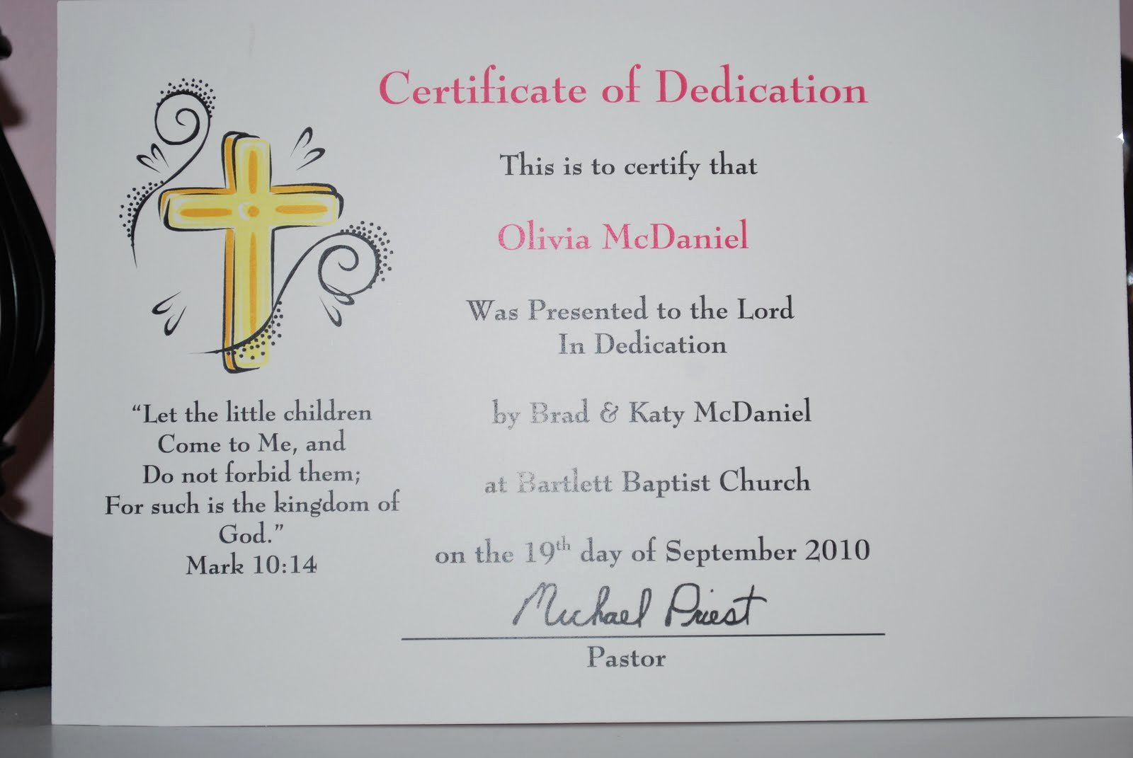 Printable Baby Dedication Certificate Best Of Baby Makes Three Baby Dedication
