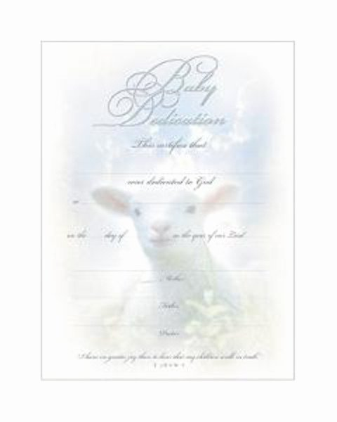 Printable Baby Dedication Certificate Luxury Baby Dedication Certificate Pkg Of 6