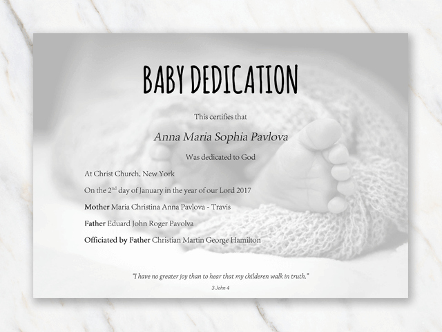 Printable Baby Dedication Certificate Luxury Baby Dedication Certificate Template for Word [free Printable]