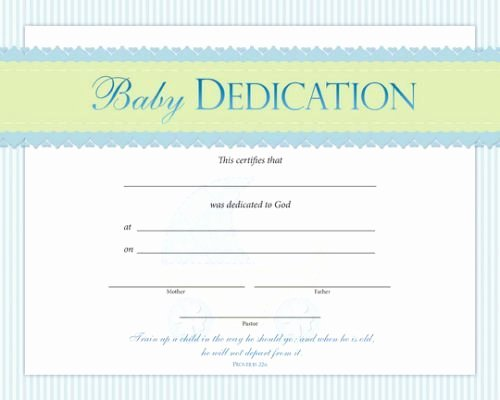 Printable Baby Dedication Certificate New Baby Dedication Certificate Template