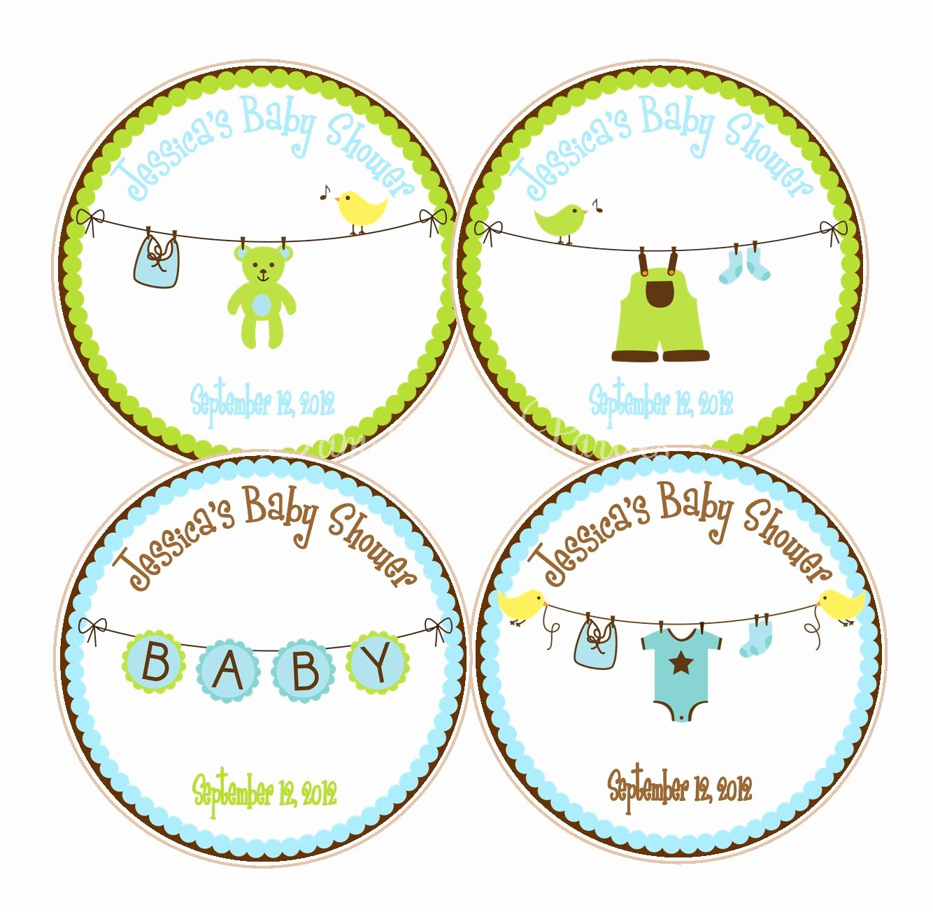 Printable Baby Shower Favor Tags Best Of Cute Boy Baby Shower Favor Tags Baby Showers or 1st Birthday