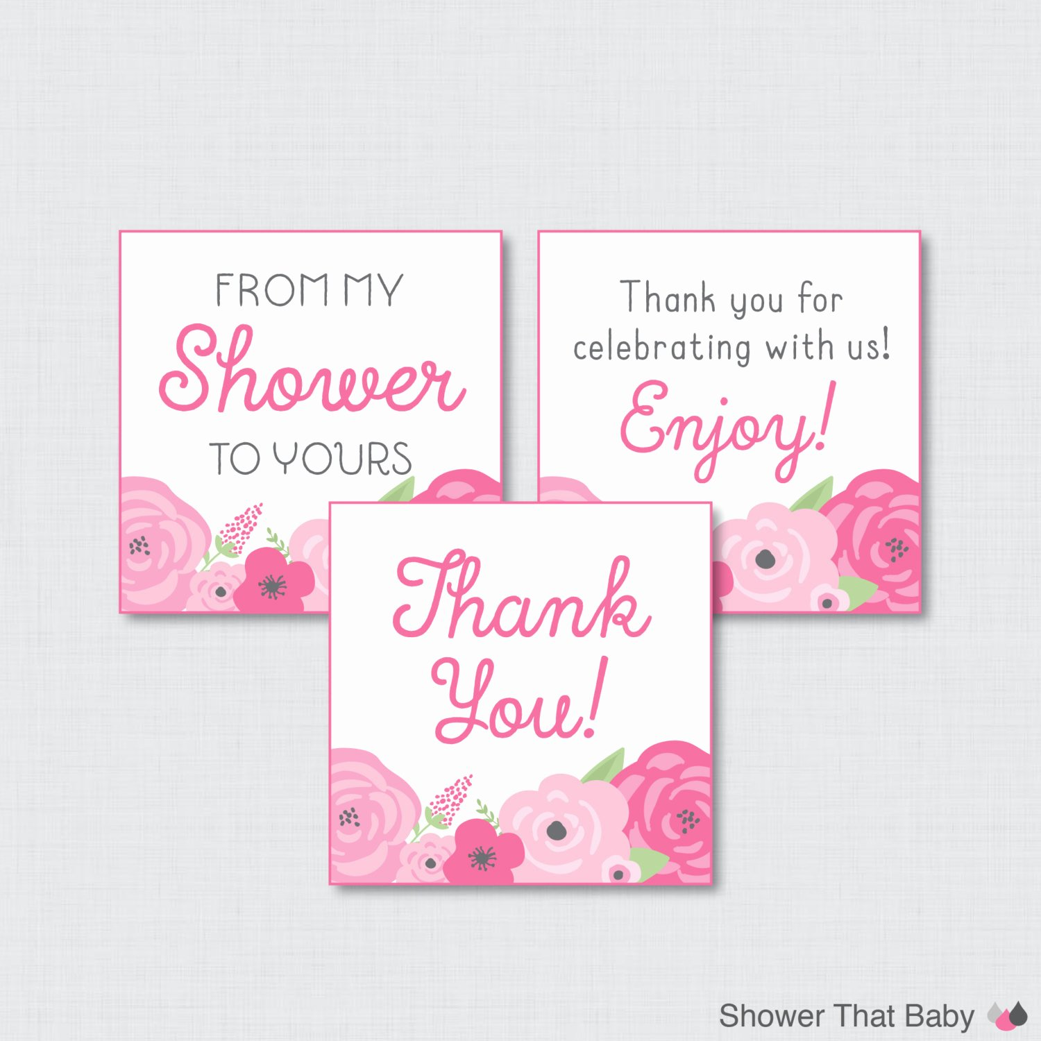 Printable Baby Shower Favor Tags Luxury Flower Baby Shower Printable Favor Tag Spring Baby Shower