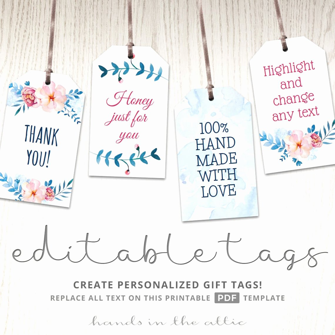 Printable Baby Shower Favor Tags Unique Printable Floral T Tags Party Favors Editable Labels Baby