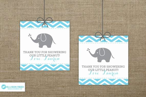 Printable Baby Shower Gift Tags Elegant Chevron Elephant Baby Shower Favor Tags Elephant Printable