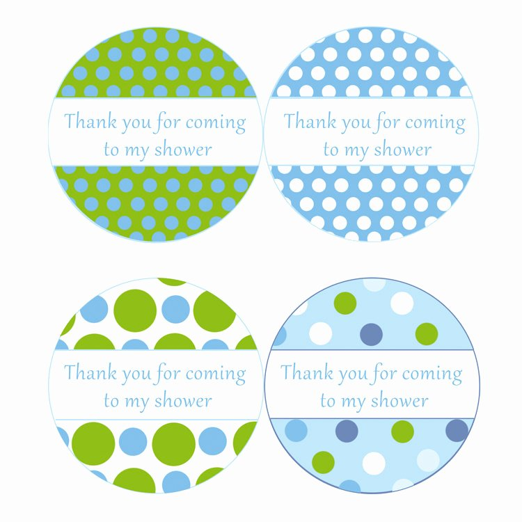 Printable Baby Shower Gift Tags Elegant Instant Download Blue Green Polka Dots Baby Shower Party Thank