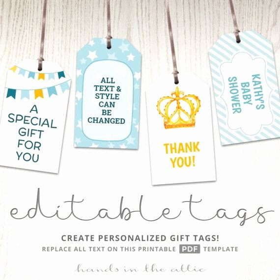 Printable Baby Shower Gift Tags Fresh Best 25 Gift Tag Templates Ideas On Pinterest