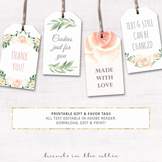 Printable Baby Shower Gift Tags Luxury Printable Baby Shower Labels Editable T Tags by