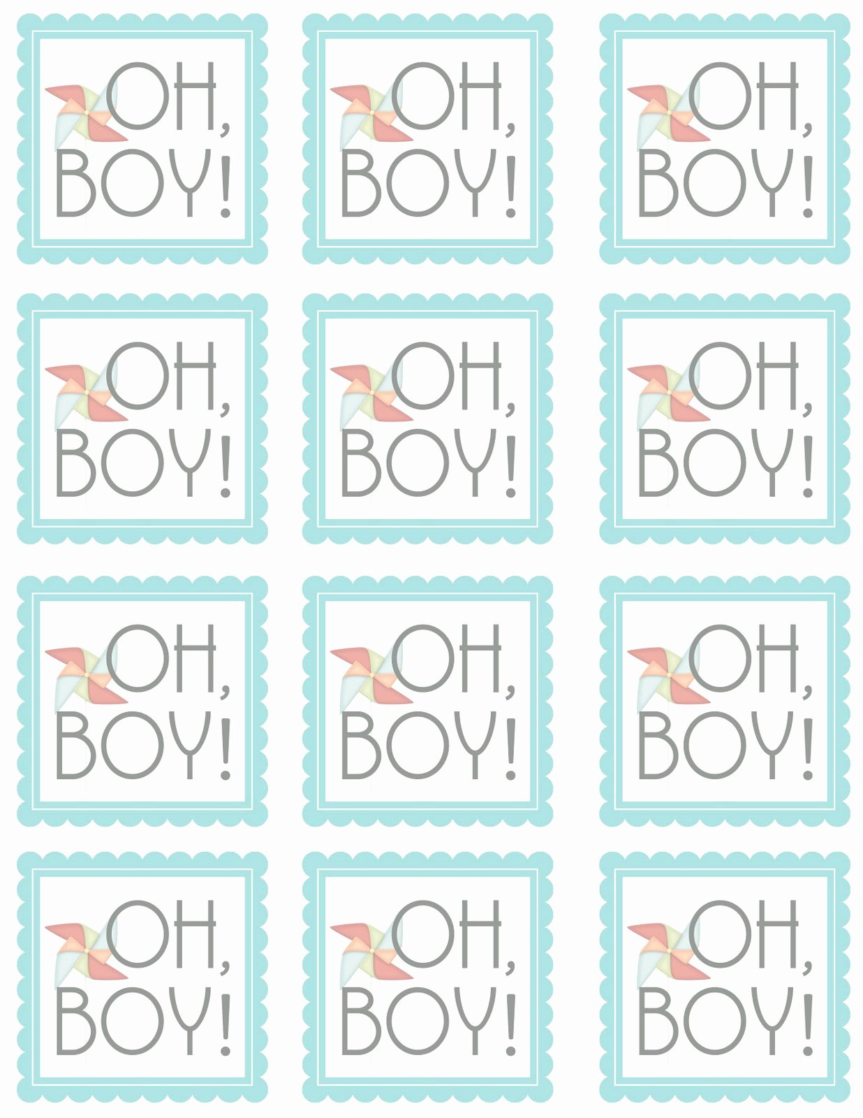 Printable Baby Shower Tags Awesome Sugartotdesigns Oh Boy Free Printable