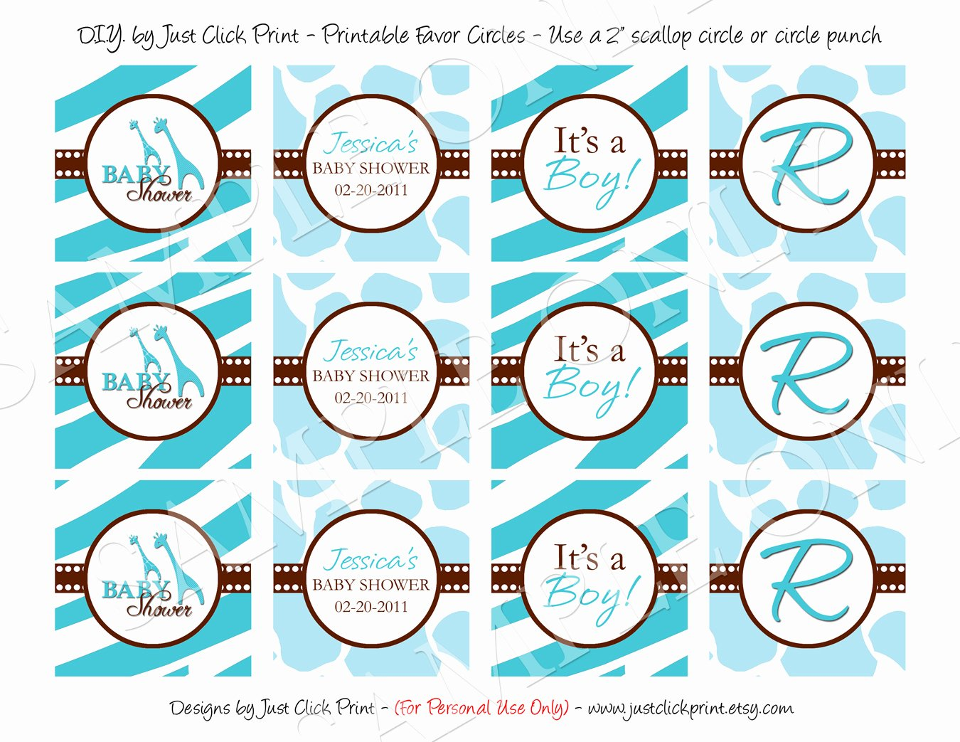 Printable Baby Shower Tags Awesome Wild Safari Blue Baby Shower Invitation Printable · Just
