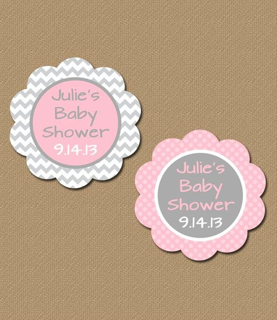 Printable Baby Shower Tags Beautiful Personalized Chevron Party Favor Tags Printable by