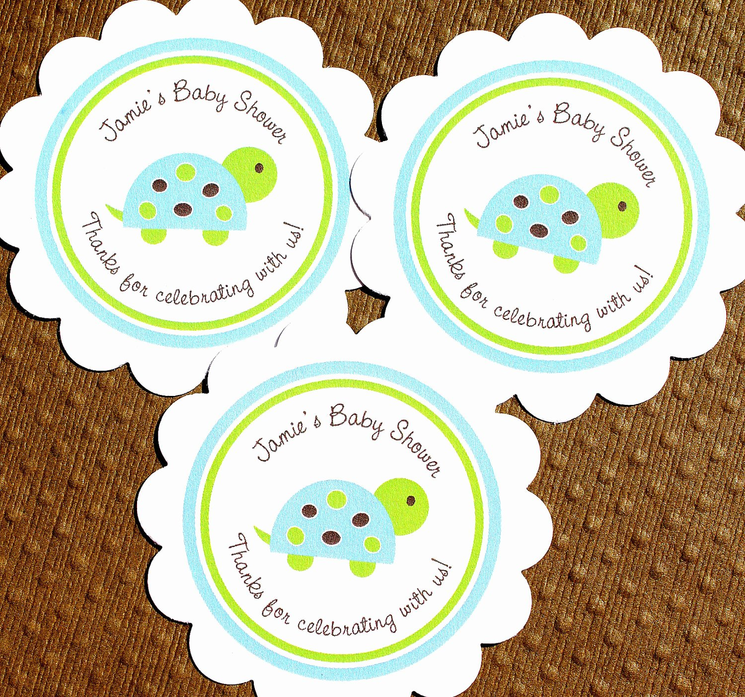 Printable Baby Shower Tags Unique Printable Turtle Baby Shower Labels Personalized by