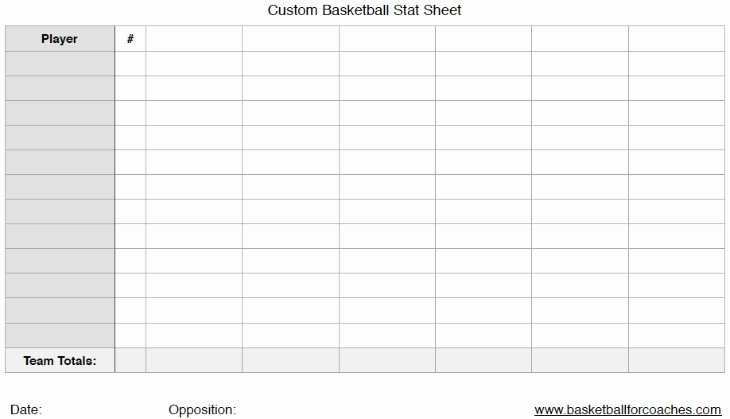 Printable Basketball Score Sheet New 3 Basketball Stat Sheets Free to and Print