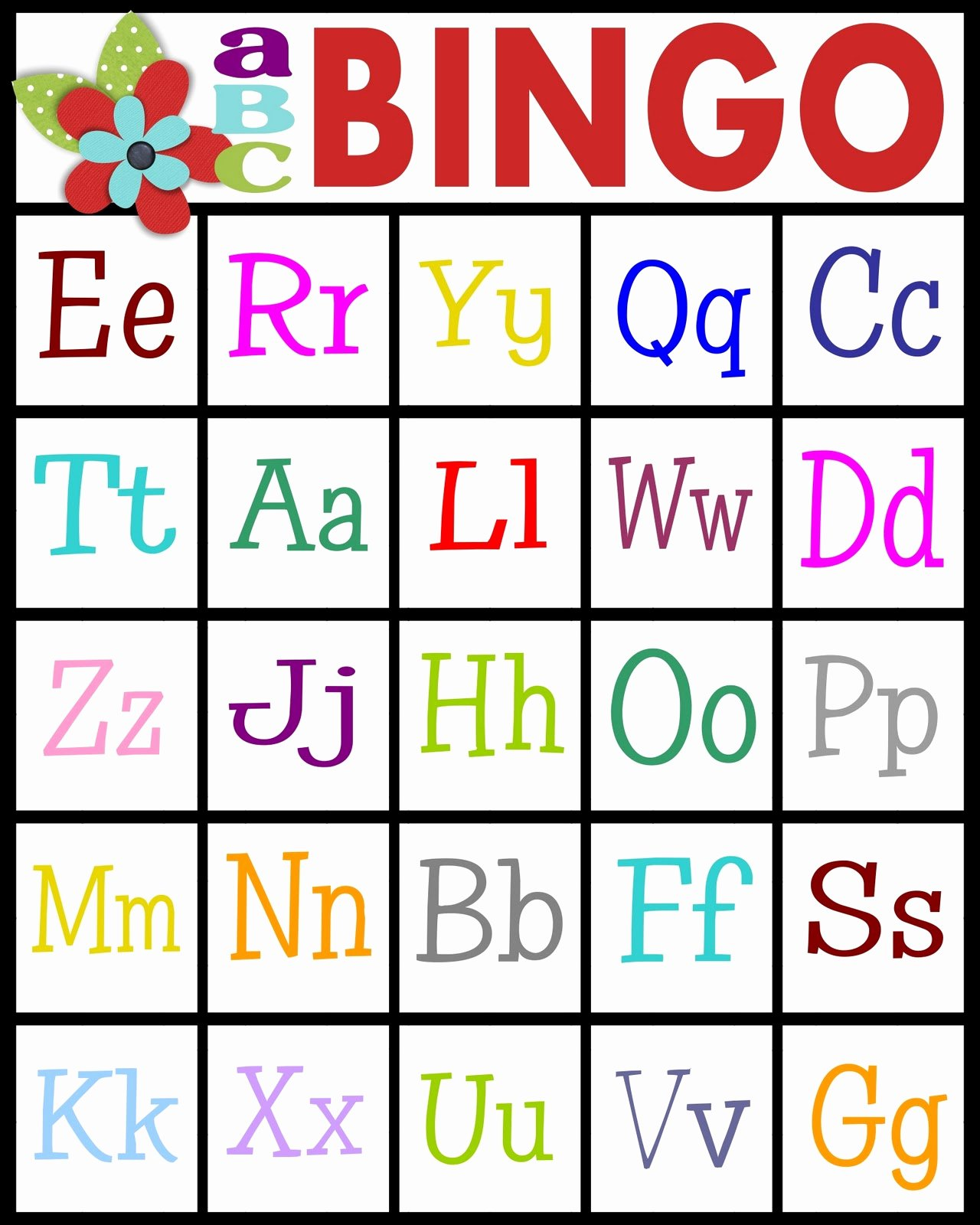 Printable Bingo Calling Cards Awesome Sassy Sanctuary Abc S Bingo Free Printable