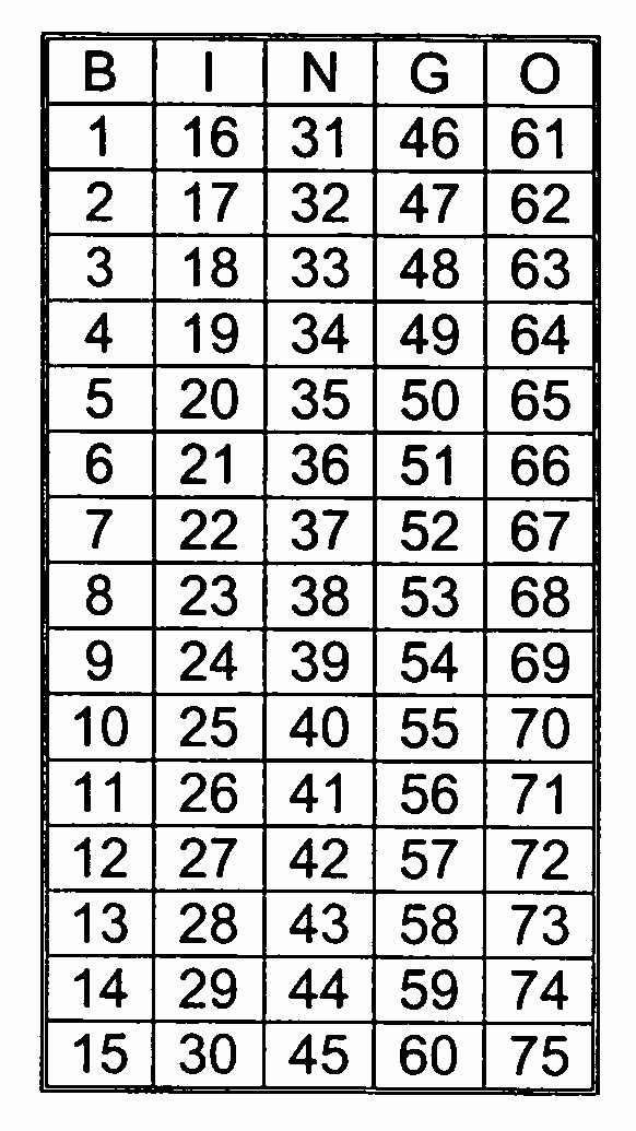 Printable Bingo Calling Cards Beautiful Patent Us Single Winner Bingo Game Google