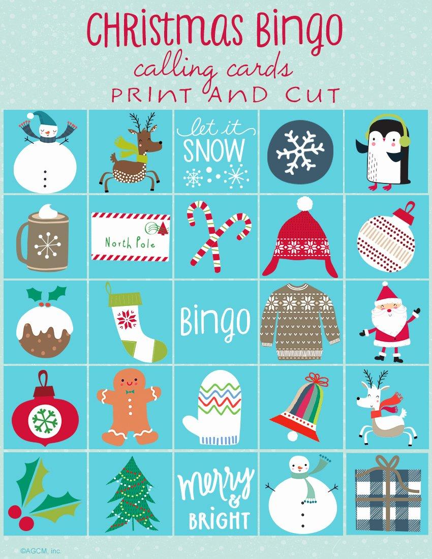 Printable Bingo Calling Cards Best Of Printable Christmas Games