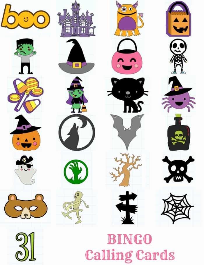 Printable Bingo Calling Cards Elegant Printable Halloween Bingo Cards