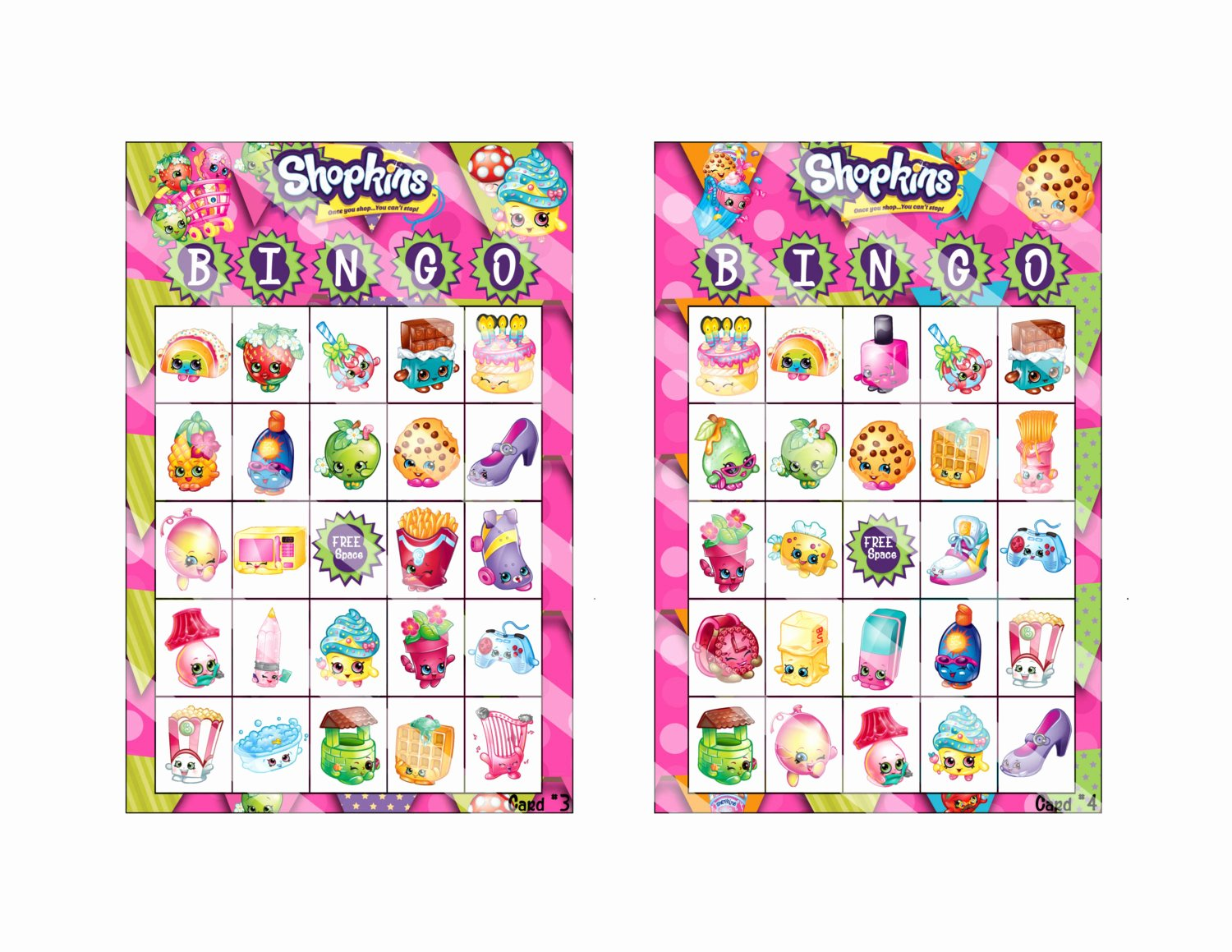 Printable Bingo Calling Cards Elegant Shopkins Bingo Cards Calling Card Bingo Markers by