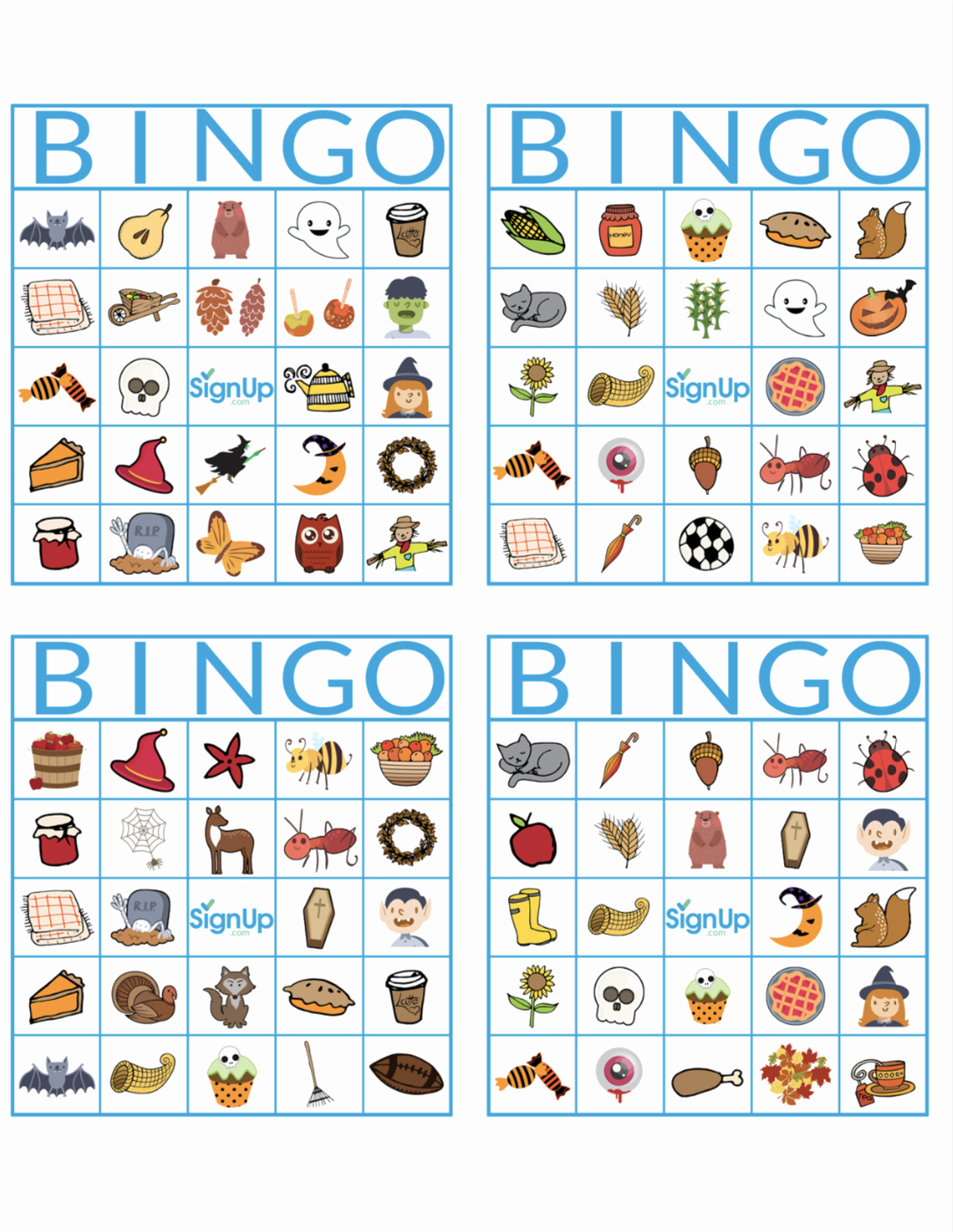 Printable Bingo Calling Cards Fresh Printable Bingo Cards Fun Fall Classroom Party Activity