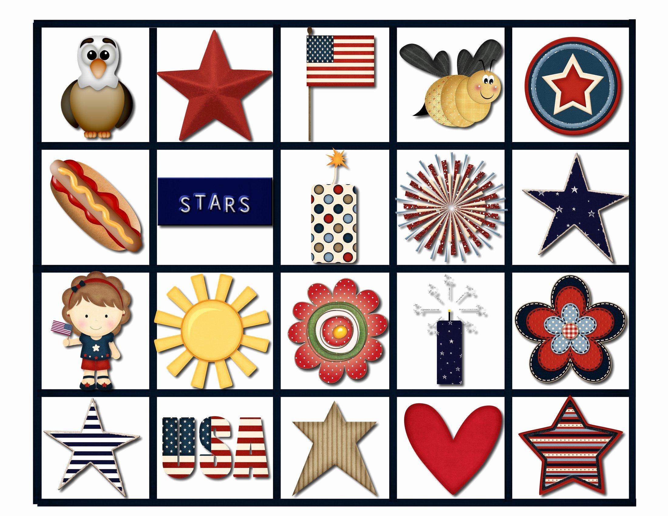 Printable Bingo Calling Cards Inspirational July 4th Bingo Game Pink Polka Dot Creations
