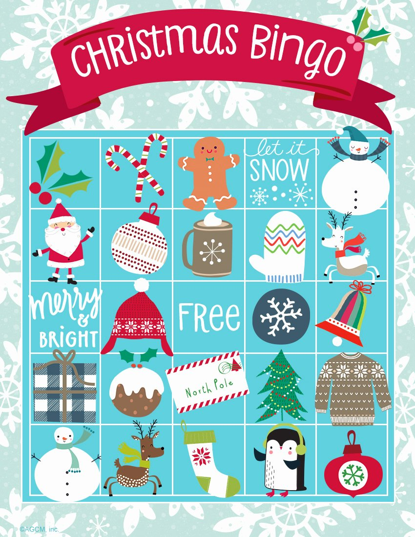 Printable Bingo Calling Cards Inspirational Printable Christmas Games