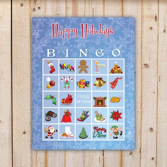 Printable Bingo Calling Cards Lovely Christmas Bingo Game with 20 Unique Bingo Cards and 42 Large