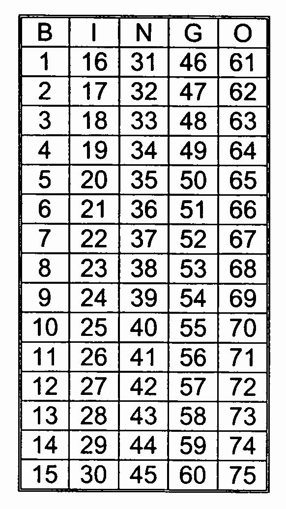 Printable Bingo Calling Cards Luxury Bingo Numbers 1 75 Winter Party