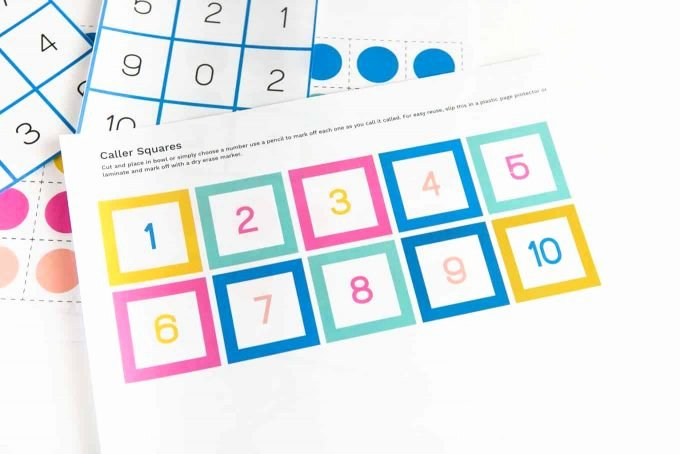 Printable Bingo Calling Cards Unique Free Printable Number Bingo Design Eat Repeat
