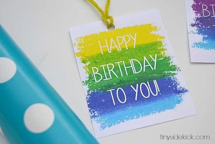 Printable Birthday Gift Tags Awesome Free Printable Birthday Gift Tags