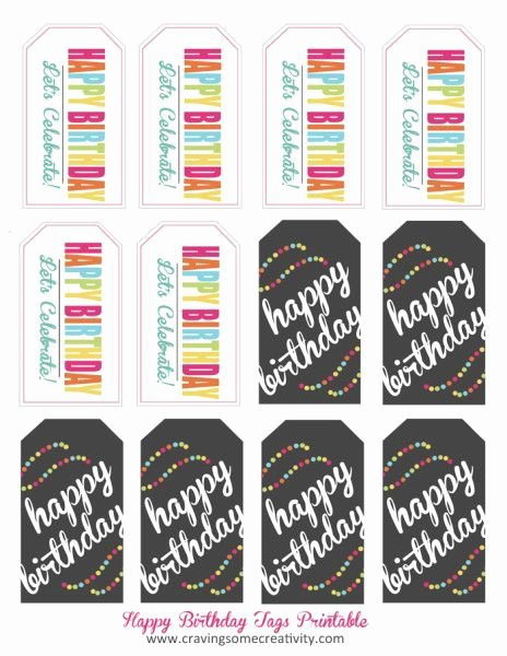 Printable Birthday Gift Tags Awesome Quick & Easy Classroom Birthday Treats